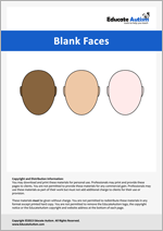 Blank Faces: Picture Communication Cards