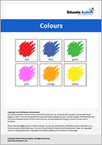 Colours: Picture Communication Cards