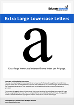 Letters: Extra Large Lowercase