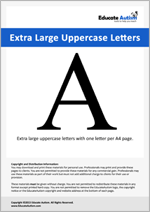 Letters: Extra Large Uppercase
