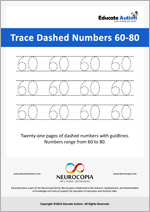 Writing: Numbers 60-80 Dashed