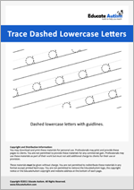 Writing: Lowercase Letters Dashed