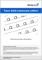 Writing: Lowercase Letters Solid