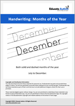 Writing: July to December