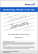 Writing: January to June