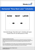 Schedule: Horizontal Now-Next-Later