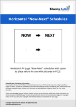 Schedule: Horizontal Now-Next