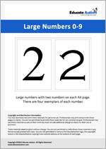 Numbers: Large 0-9