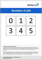 Numbers: Picture Communication Cards