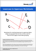 Matching: Lowercase to Uppercase