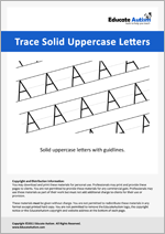 Writing: Uppercase Letters Solid