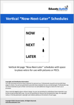 Schedule: Vertical Now-Next-Later