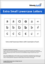 Letters: Extra Small Lowercase