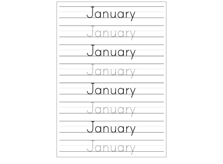 Months of the Year Handwriting Worksheets | Educate Autism