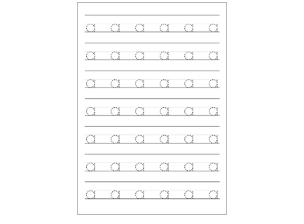 Dashed Lowercase Letters Handwriting Worksheets | Educate Autism