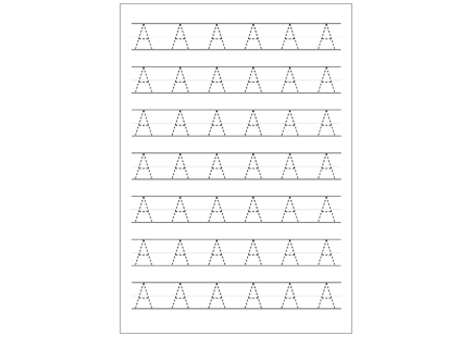 Dashed Uppercase Letters Handwriting Worksheets | Educate Autism