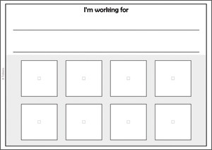 Token Boards Lines For Written Reinforcers Large Tokens