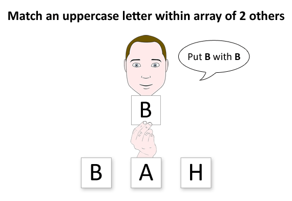 Matching uppercase letters from an array of 2 other letters.