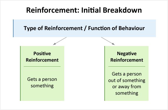 functions of behaviour educate autism basic breakdown of reinforcement into their positive and negative forms