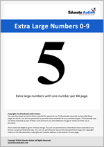 Numbers: Extra Large 0-9