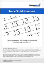 Writing: Numbers 0-20 Solid