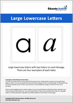 Letters: Large Lowercase