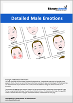 Male Faces: Picture Communication Cards