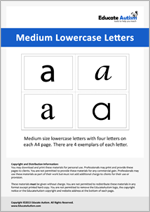 Letters: Medium Lowercase
