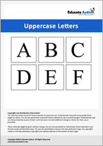 Uppercase Letters: Picture Communication Cards