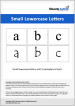 Letters: Small Lowercase