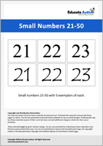 Numbers: Small 21-50