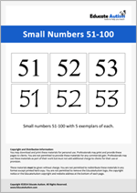 Numbers: Small 51-100