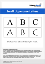 Letters: Small Uppercase