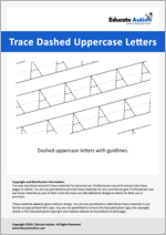 Writing: Uppercase Letters Dashed