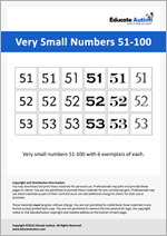 Numbers: Very Small 51-100