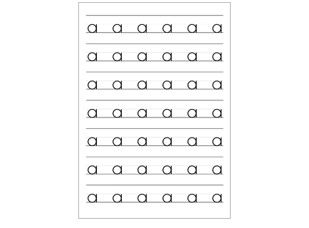 Number Names Worksheets lowercase letter worksheets : Lowercase Letter Handwriting Worksheets - Intrepidpath